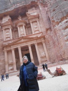 2012 Israel/Jordan Trip. Photo at Petra in Jordan. Didn't President Obama stand in this very spot on his trip?