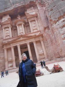 2012 Israel/Jordan Trip. Photo at Petra in Jordan. Didn't President Obama stand in this very spot on his trip?