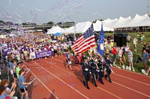 Relay for Life (American Cancer Society) opening ceremony parade.