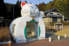 cat shaped building