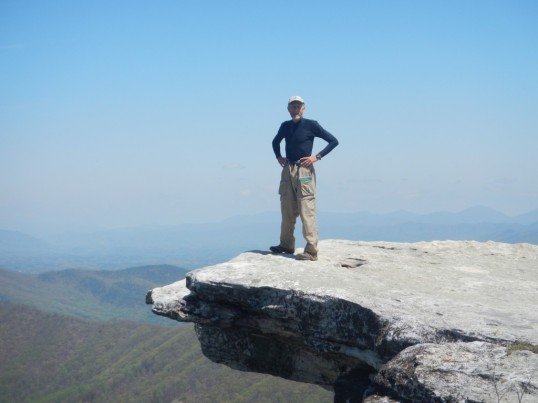 Terry at McAfee Knob near Roanoke Va