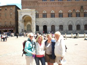 Christine, Inger-Anne, Jan, Carol in Sienna, Italy, May, 2012