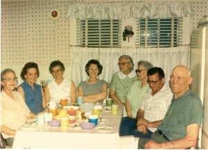The aunts and uncles gathered frequently in the evening for coffee and news.