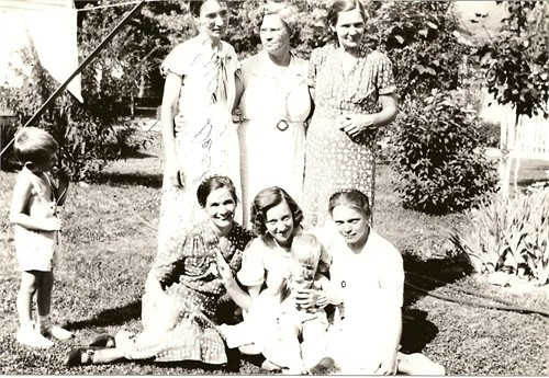 Mom and her sisters  1930 maybe