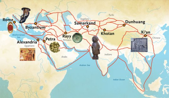 Trade routes to and from Petra Photo credit: pennmuseum.com
