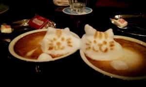cat coffee friends.  Kazuk Yamamoto