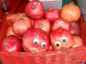 """Happy"" Pomegranites on sale today!"