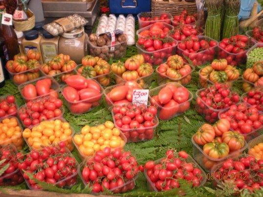 Yummy veggies in Campo del Fioro, Rome