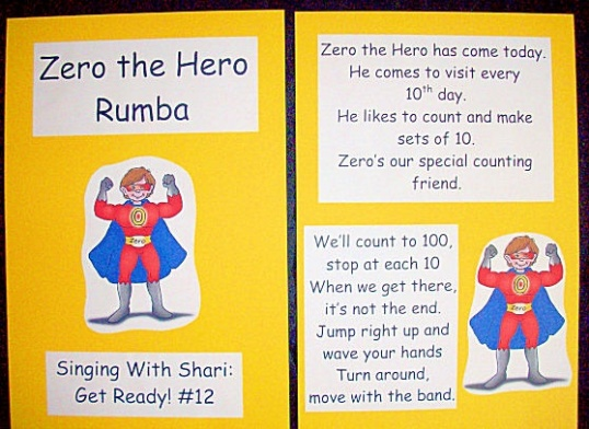 Zero the Hero visits kindergarten