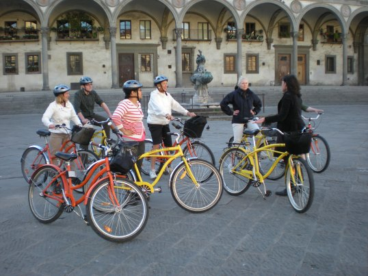 Biking in Florence, Italy