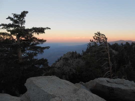 View from the viewing platform of the Palm Springs Aerial Tram, CA