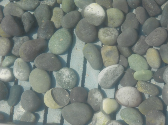 Stones in the reflecting pool