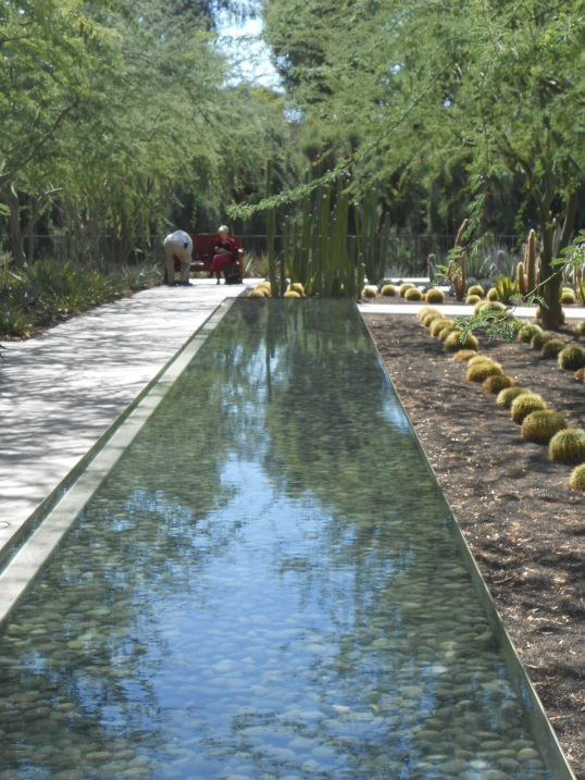 Stones in reflecting pool at Sunnylands Gardens, Rancho Mirage, CA. (Estate of Ambassador Walter and Leonore Annenberg)