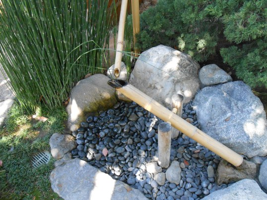 Bamboo water fountain in Japanese Friendship Garden