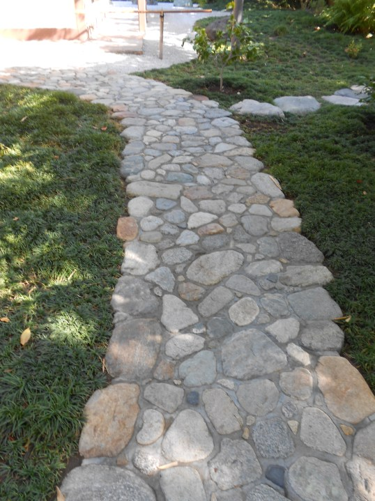 Stone path in Japanese Friendship Garden, Balboa Park, San Diego