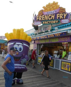 You might as well have some French fries while you are at the Ocean City Boardwalk. Ask these two Fry Guys how good they are.