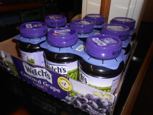 More than five jars of jelly...for making sandwiches for the homeless...