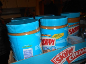 Peanut butter to add to the sandwiches for the homeless...