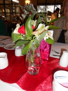 Red centerpieces...
