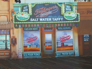 Of course, salt water taffy at the beach...