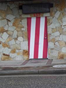 And a candy-striped door...