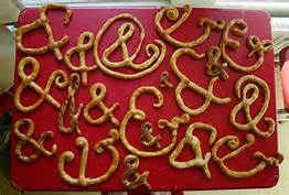 ampersands pretzels