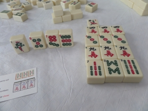 "This is as far as I got in building sets before Cathy called ""mahjong."" My luck was not so good today."