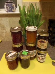 "Mom lined the jarfuls of the jam on the kitchen cabinet. When she heard the lids ""pop,"" she knew the vacuum seal had set."