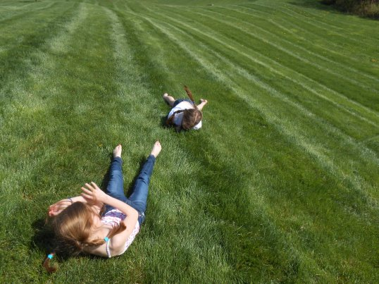 What could be more fun than rolling down a grassy hill on a warm spring day?