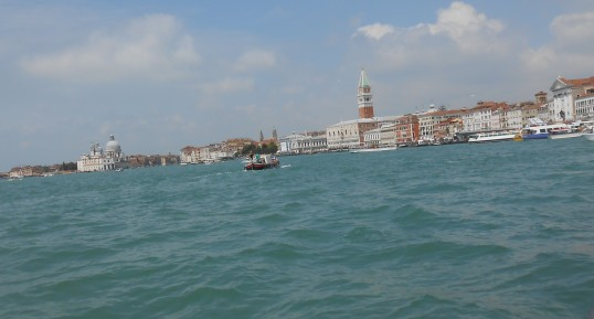 Janice Heck, Arriving in Venice, May, 2014