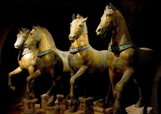 Four Horses taken as war plunder from Constantinople by the Venetians at the end of the Fourth Crusade