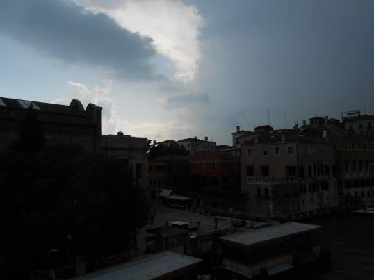 It was a dark and stormy day in Venice...