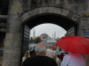 Blue Mosque through an arch, Istanbul