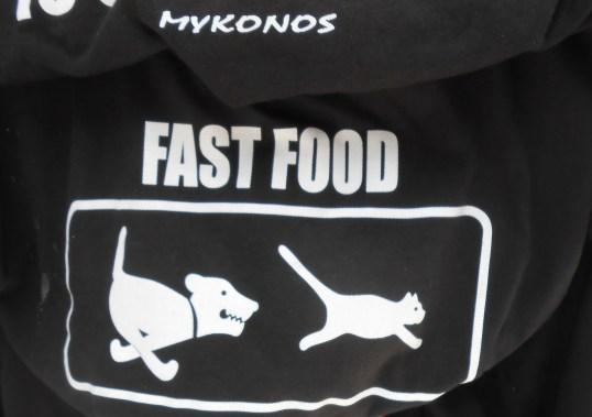 T-shirt design found in Mykonos, Greece. A true LOL.